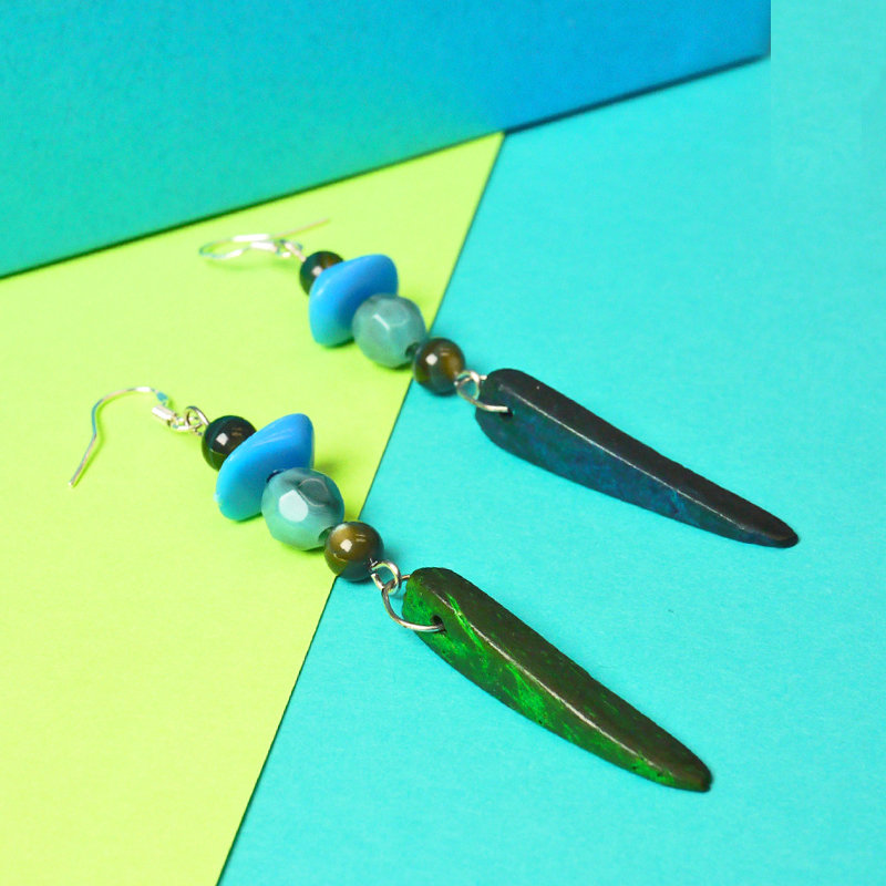 Tropical earrings - Special price, Mixed media, summer accessories, earrings, sale