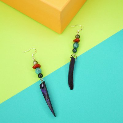 Tropical earrings - Special price, sale, summer accessories, earrings, wooden