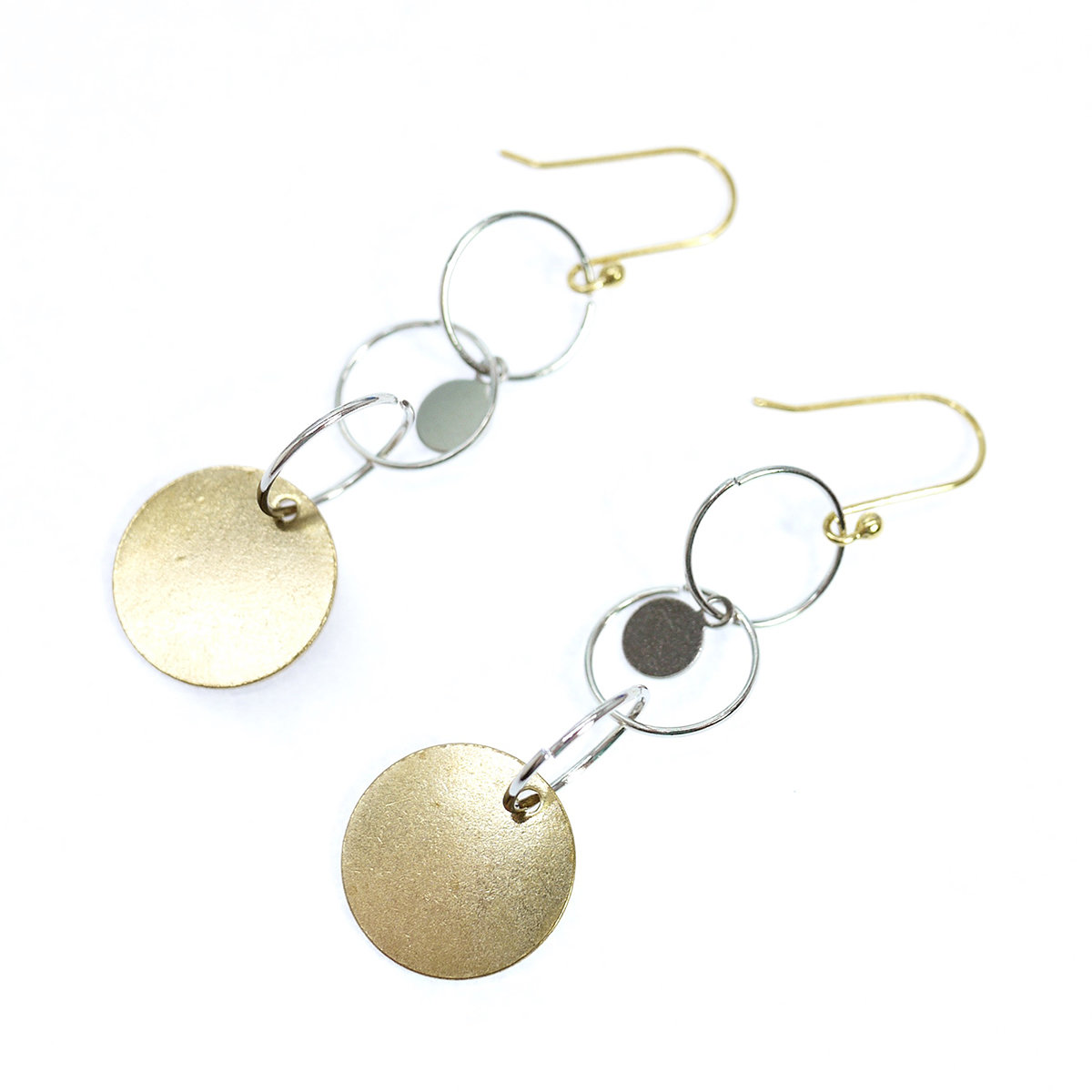 5 circles — 14k hook, Gold plating, designed in Hong Kong, handmade jewellery, special gift