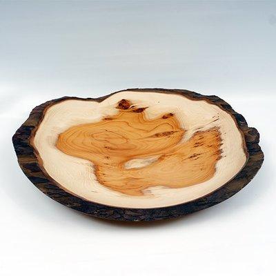 Natural edge Yew bowl