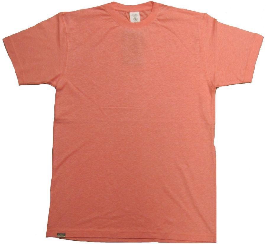55% Hemp / 45% Organic Cotton T-Shirt 12 Pack (Salmon)
