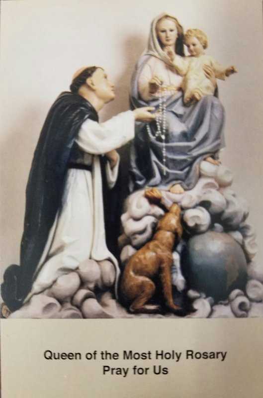 Shrine of Our Lady of the Rosary Prayer Card (Single)