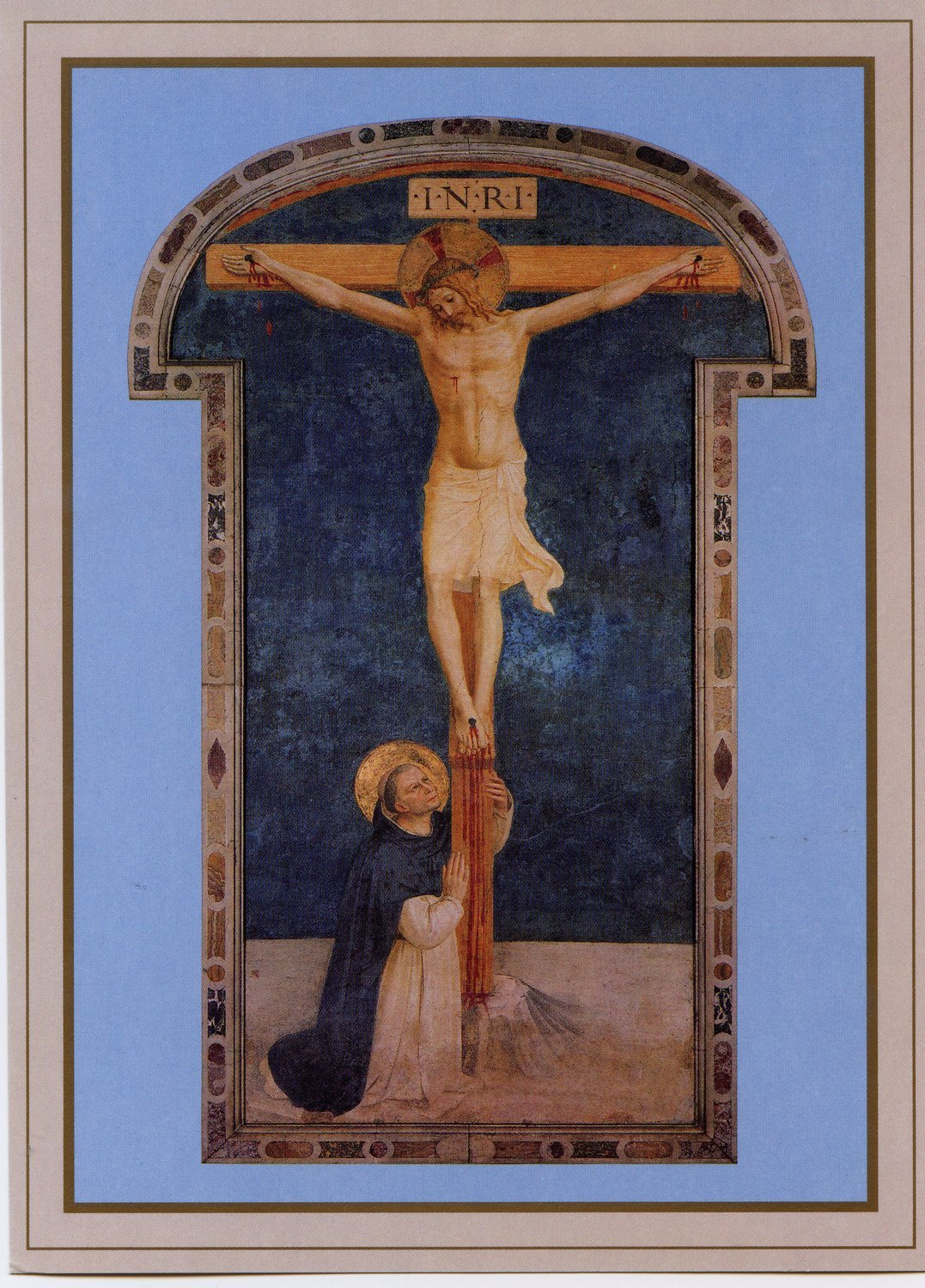 St. Dominic Adoring the Crucifixion Holy Card (Single)