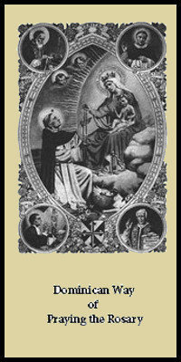 Dominican Way of Praying the Rosary - Pack of Five
