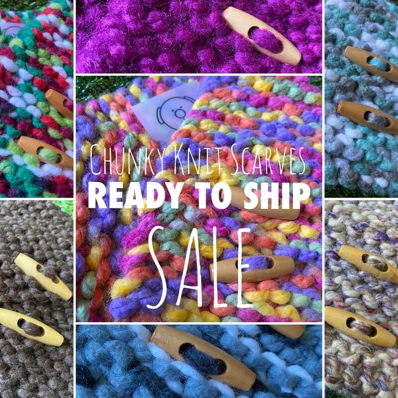 Chunky knit Scarves