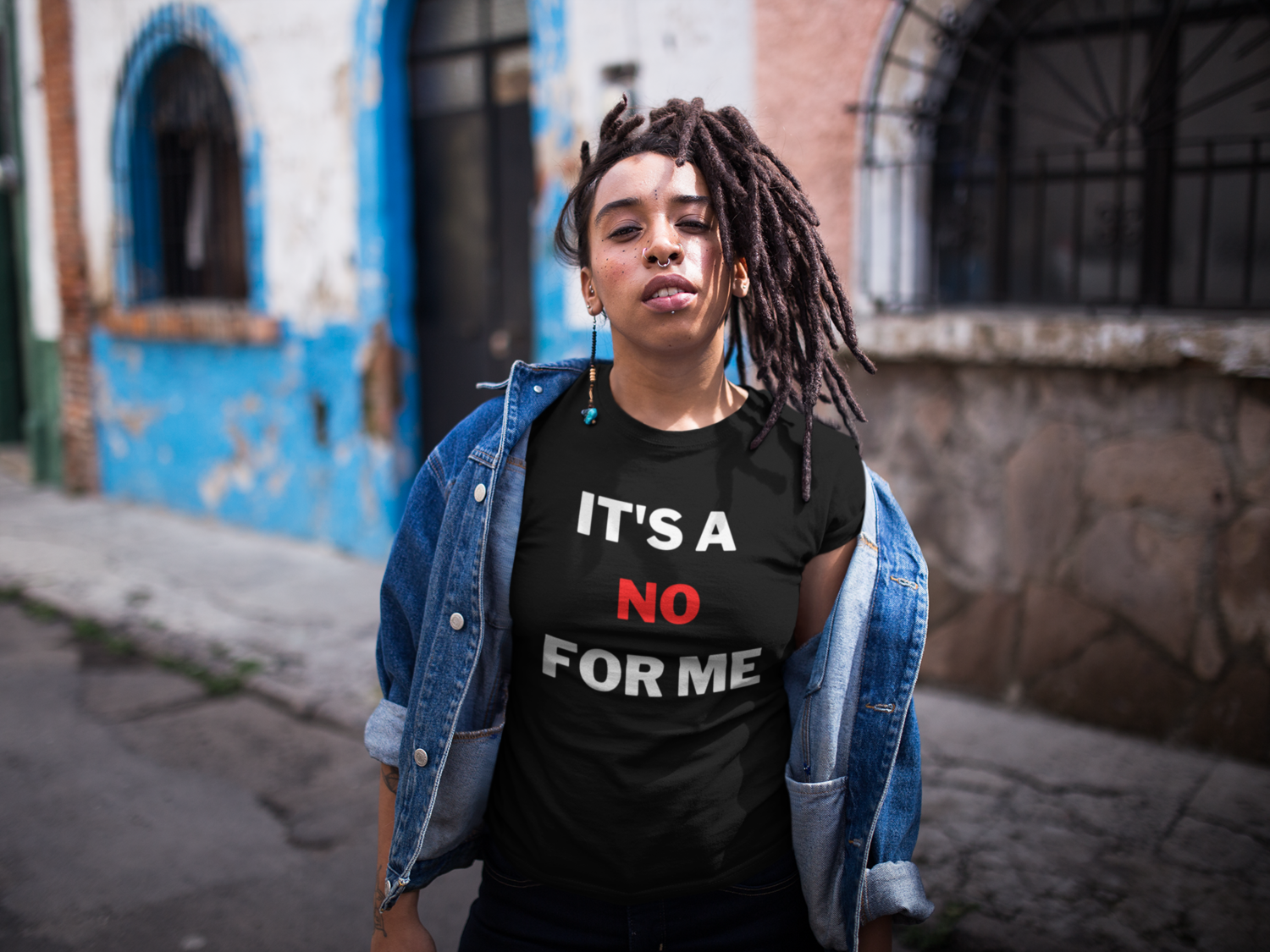 """""""IT'S A NO FOR ME"""" TSHIRT"""
