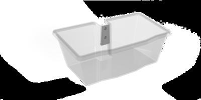 Volatia Tablet Cart Translucent Supply Caddy