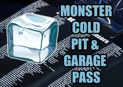 NASCAR Monster COLD Pit Pass - Fan Sponsor on 10/18/20 Kansas