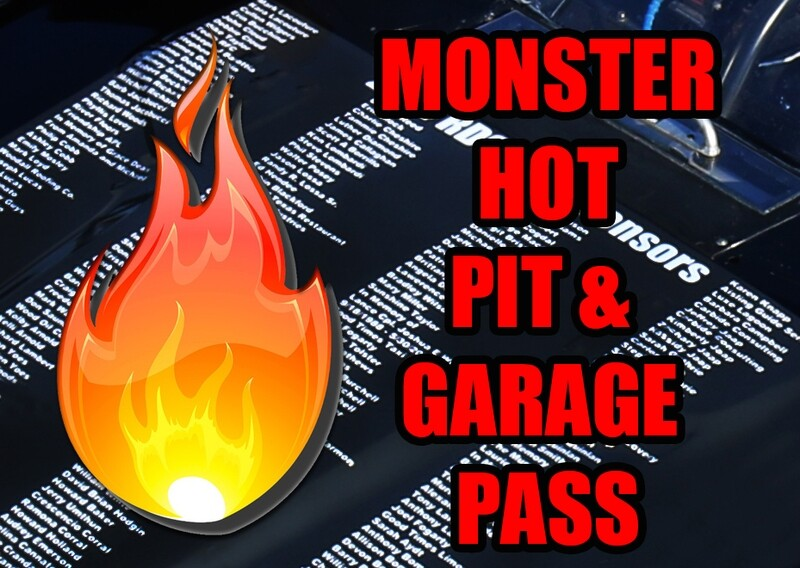 NASCAR Monster Hot Pit Pass - Fan Sponsor on 06/21/20 at Chicagoland