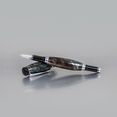 Executive Rollerball Pen - Urban Denim Buckeye Burl Wood