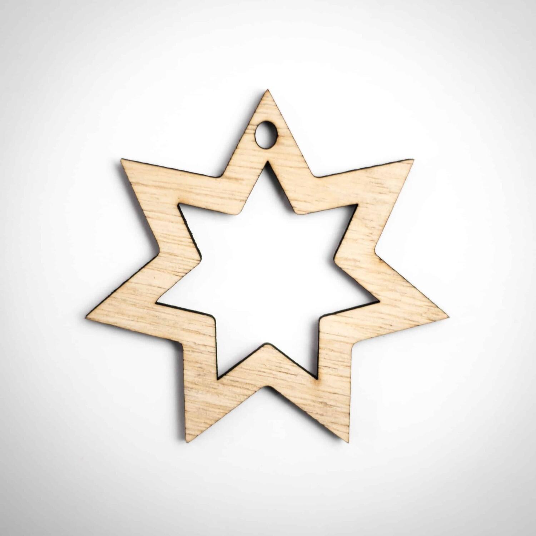 Wood Ornament - Star of David