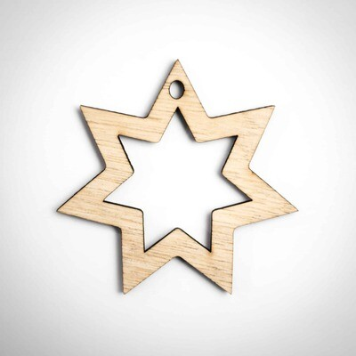 Wood Ornament - Star of David