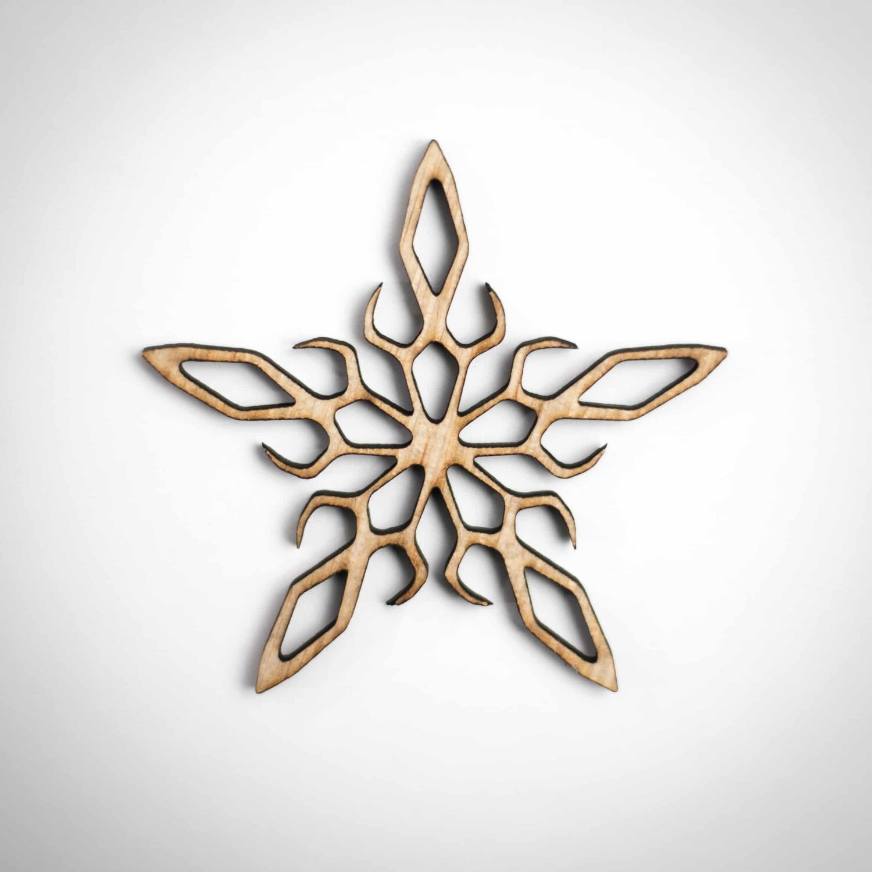 Wood Ornament - Ornate Snowflake
