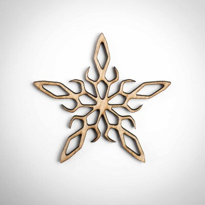 Wood Ornament - Ornate Snowflake