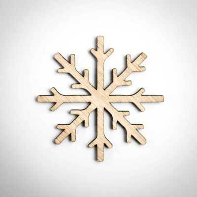 Wood Ornament - Classic Snowflake