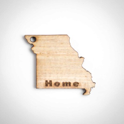 Wood Ornament - Missouri State - Inside Cut