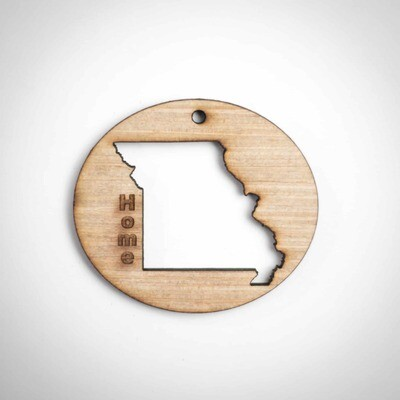 Wood Ornament - Missouri State - Outside Cut
