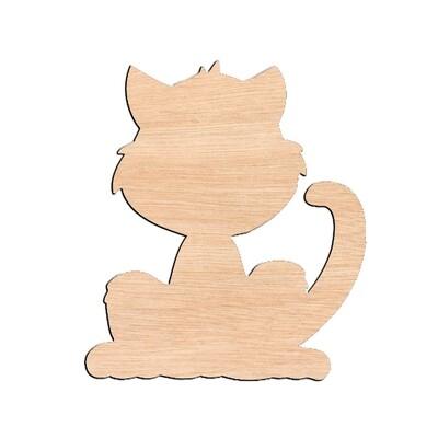 Cat - Raw Wood Cutout