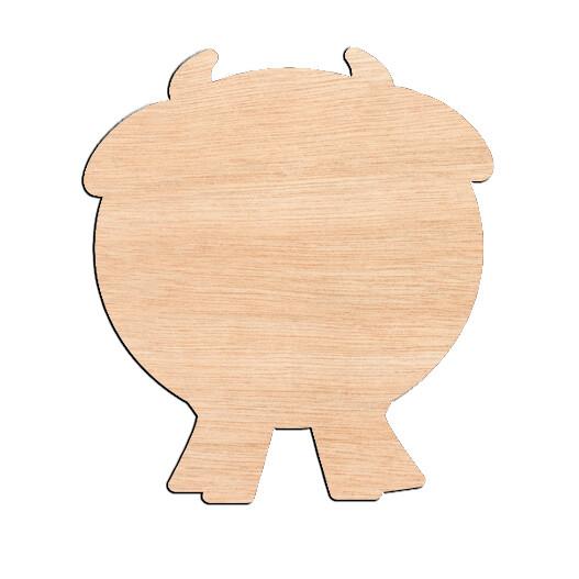 Fat Cow - Raw Wood Cutout