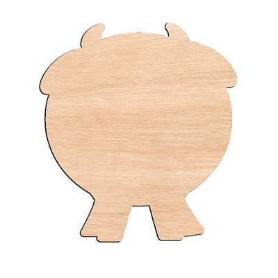 Fat Cow - Raw Wood Cutout