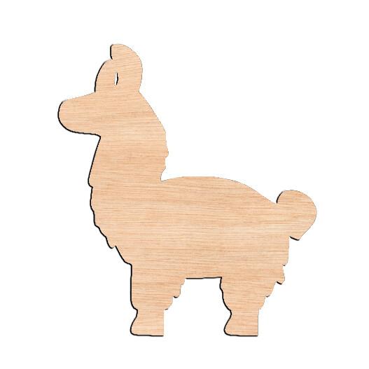 Llama - Raw Wood Cutout