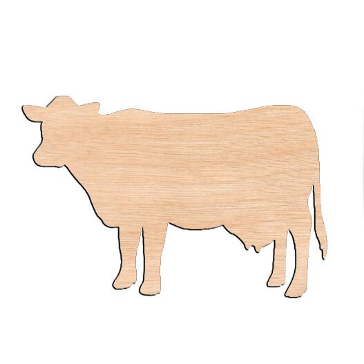 Cow - Raw Wood Cutout