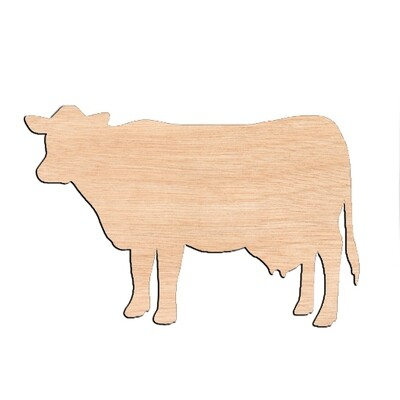 Cow - Raw Wood Cutout