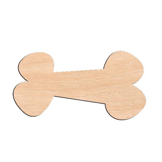 Dog Bone - Raw Wood Cutout