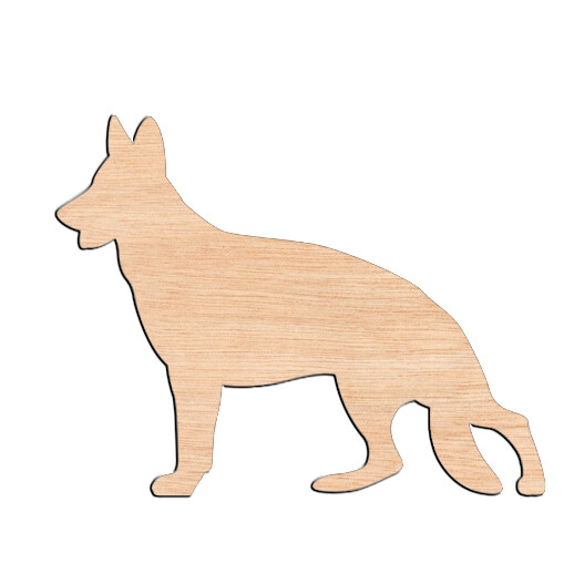 German Shepard - Raw Wood Cutout