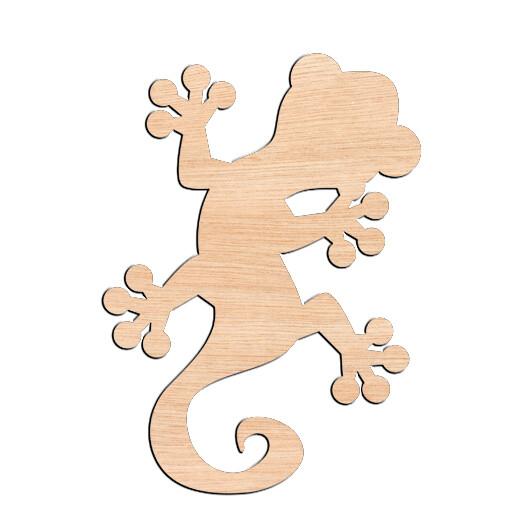 Gecko - Raw Wood Cutout
