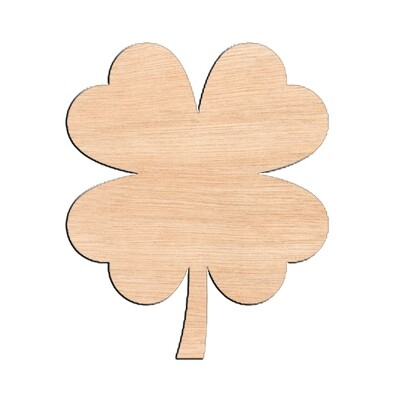 Clover - Raw Wood Cutout