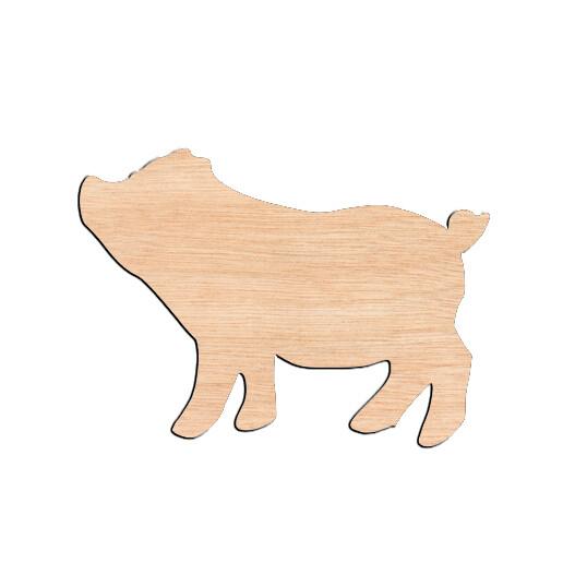 Pig - Raw Wood Cutout
