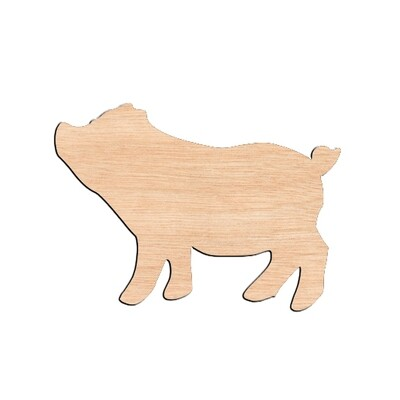 Pig - Raw Wood Cutout