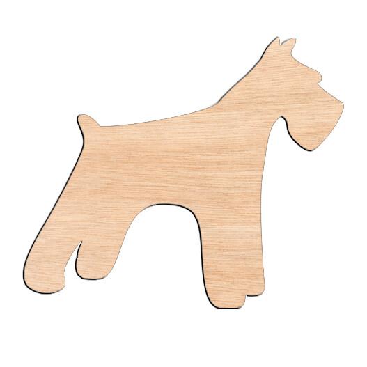 Schnauzer - Raw Wood Cutout