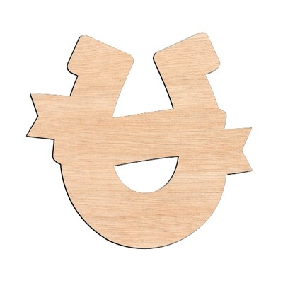 Horseshoe - Raw Wood Cutout