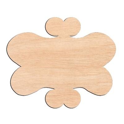Funky Frame - Raw Wood Cutout