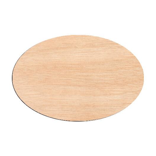 Oval - Raw Wood Cutout