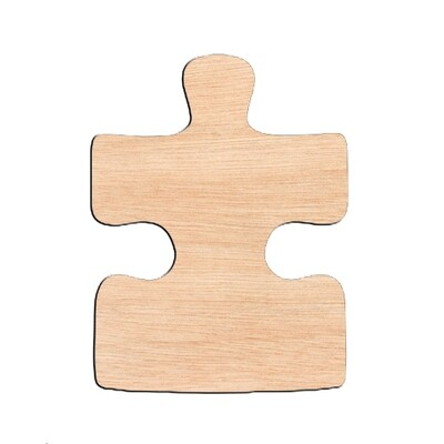 Puzzle Piece Single Sided - Raw Wood Cutout