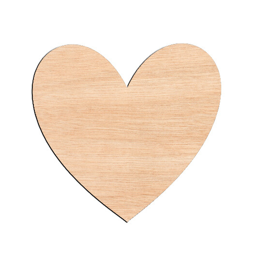 Heart - Raw Wood Cutout