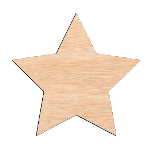Star - Raw Wood Cutout