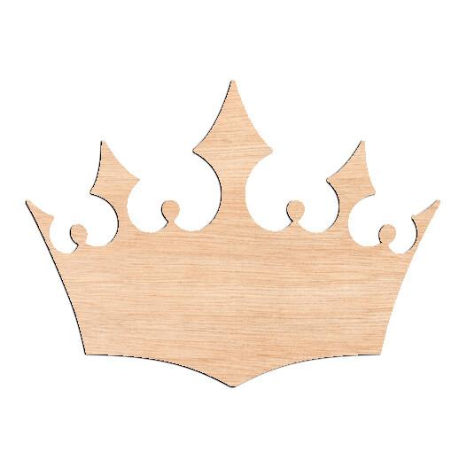 Ornate Crown - Raw Wood Cutout
