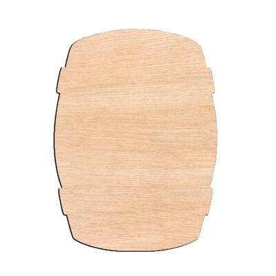 Bourbon Barrel - Raw Wood Cutout