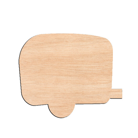 Camper - Raw Wood Cutout