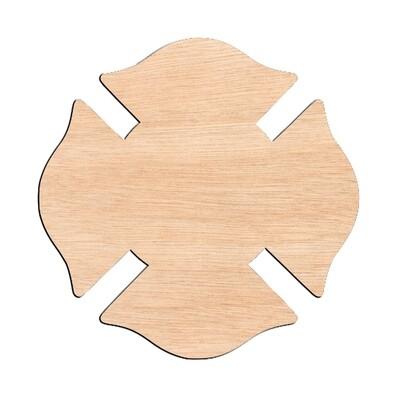 Firefighter Emblem - Raw Wood Cutout