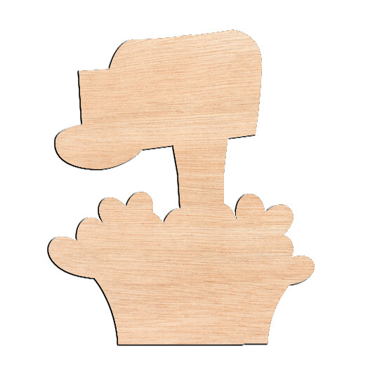 Mailbox - Raw Wood Cutout
