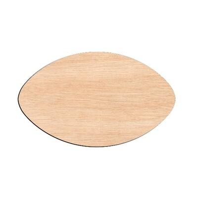 Football - Raw Wood Cutout