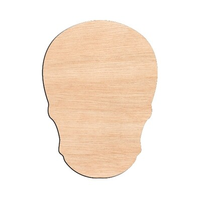 Sugar Skull - Raw Wood Cutout