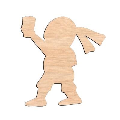 Ninja Pirate - Raw Wood Cutout