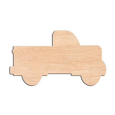 Truck - Raw Wood Cutout