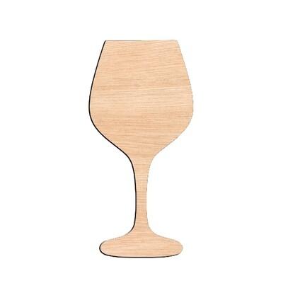 Wine Glass - Raw Wood Cutout